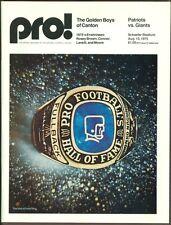 1975 New England Patriots Press Lot w/Program Notes Folder and More (vs GIANTS)