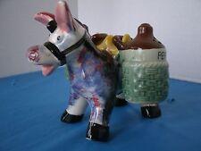Vintage Donkey Burro Salt & Pepper Shaker Made in Japan
