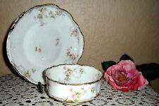2 Theodore Haviland Limoges Schleiger Pink Rose Serving Pieces, Platter & Bowl