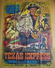 TEXAS EXPRESS randolph scott western affiche cinema originale 160x120 cm R60s