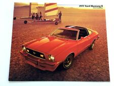 1977 Ford Mustang II 12-page Original Car Sales Brochure Catalog - Mach I Cobra