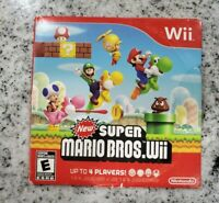 New Super Mario Bros. Wii  (Wii, 2009) Nintendo - Tested -  FAST SHIPPING