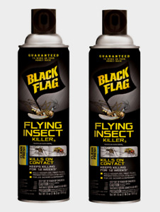 2 Black Flag FLYING INSECT KILLER Paralyze On Contact Bug Wasp 18oz HG11076