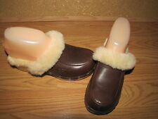 NWOB UGG 'Kalie' Brown Shearling Clogs - Mules - 5 European 36