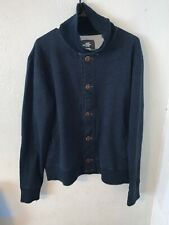 H&M Logg Sweater Turtleneck Navy Blue Button Down Long Sleeve Large