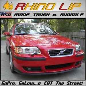 Volvo Universal Front Bumper Rubber Flex Chin Lip Splitter Spoiler Chin Lip Trim