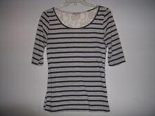 Lot of 2 Breton Striped Shirts Navy Cream lace Oatmeal Gap Modcloth XS Nautical