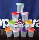 Tupperware Tupper Mini Midgets Container 2oz Set of 10 Assorted Vibrant Seal New