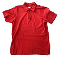Oakley Red Rugby Outdoor Sports Golf Polo Short Sleeve Shirt Mens Size Large