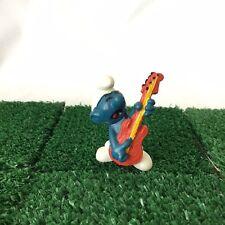 Smurfs Guitar Smurf 20023 Vintage 1977 Rare Rock & Roll Figure Schleich Toy