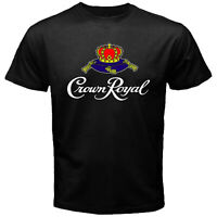Crown Royal Whisky Canadian Beer Premium Alcohol Liquor Black T-shirt Size S-5XL