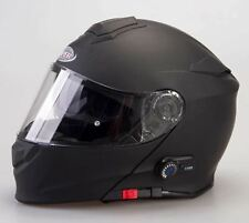 Viper Rs-v171 Plain Bluetooth Flip up Motorcycle Scooter Helmet Pinlock S Matt Black