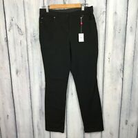 Rafaella 8 NWT New Pants Jeans Slimming Waist Panel Stretch Black Womens 39.98
