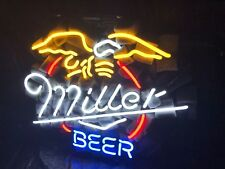 Neon Light Miller Eagles Beer Bar Home Room Poster Lamp Coors Bud Real Sign