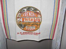 Flour sack towel, country kitchen linens, tea towel, hand towel.