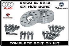 Audi A3 A4 A5 A8 R8 RS6 20mm Thick Wheel Spacers 57.1 Hub Bore Hub Centric 4 Pc