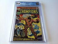 CHAMPIONS 1 CGC 9.4 WHITE PAGES GHOST RIDER BLACK WIDOW MARVEL COMICS