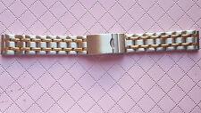 BRACELET MONTRE ACIER  /  / WATCH BAND  18mm //  bicolore   // REF SL31