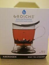 GROSCHE Aberdeen PERFECT TEA MAKER set with coaster, Tea Steeper, Teapot, Tea I