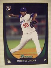 RUBBY DE LA ROSA RC 2011 Bowman baseball card DBACKS RED SOX DODGERS DIAMONDBACK