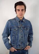 VINTAGE MENS RETRO SKINNY FITTED LEVIS FADED DENIM WASHED OUT JACKET S 38