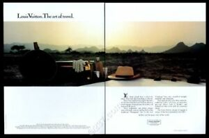 1984 Louis Vuitton luggage duffel bag and suitcase photo vintage print ad