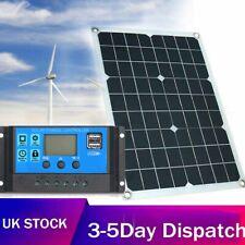 50W Dual USB Solar Panel Flexible Battery Charger Kit Car + 40A Controller H2L8.