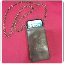 KENZO Silver Metallic Phone Long Chain Strap Bag