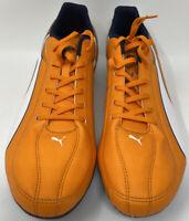 New Puma Esquadra Firm Ground,Vibrant Orange/White/Peacoat,Men Size 11.5