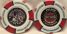 Harley-Davidson® of Folsom, CA Collector Poker Chip White/Red/Blue NEW