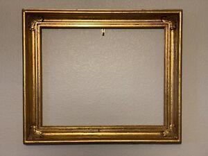 """Lovely Old Gold Gilded Frame Lemon Gold Style 13"""" X 16"""" Antique? Vintage?"""
