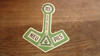 OLD 1950s GERMAN BEER LABEL, BRAUEREI RINTELN NEU SAXONY, PILS