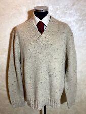 NWT Ralph Lauren Polo V-Neck Beige Heavy Acrylic, Wool, Alpaca Sweater Size XXL
