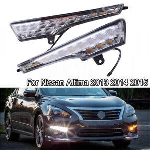 LED DRL For Nissan Altima Teana 2013-2015 Daytime Running Lights w/ Turn Signal