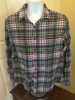 Goodiefellow & Co Long Sleeve Plaid Button Front Casual Shirt L Mens