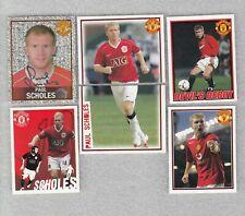 Football 6 sticker lot PAUL SCHOLES Manchester United England Panini 2006