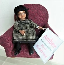"Rose Coddaire Amber 6"" Wee Wonders Aa Doll w/ Upholstered Chair #15 of 15 made!"