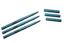 Lot de 3 crayons yeux kohl rétractable bleu clair waterproof automatique