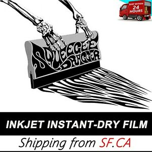 """13""""x100ft,Waterproof Inkjet Quick-Dry Transparency Film for Silk Screen Printing"""