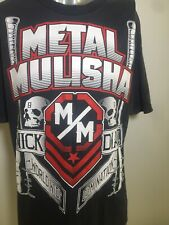 METAL MULISHA Nick Diaz Worldwide Domination T-Shirt L/XL Huge Motif Front Back