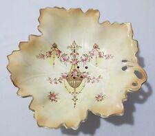 Antique Crown Devon Fieldings Blushware footed fruit bowl Etna ca 1912
