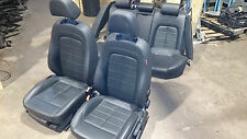 2011 SEAT EXEO ESTATE BLACK LEATHER INTERIOR SEATS SET