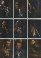Star Wars Attack of the Clones: Set of 10 Silver Foil Chase Cards #1-10