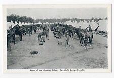 Mounted Rifles BARRIEFIELD CAMP Kingston Ontario Canada 1914-18 George Clark