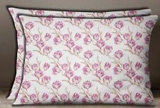 S4Sassy Rectangle Cushion Cover Floral Print Cotton Poplin Pillow Sham Case 2Pcs