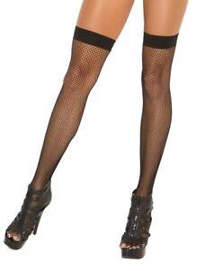 sexy ELEGANT MOMENTS fishnet FISH net THIGH highs HI stockings PANTYHOSE nylons