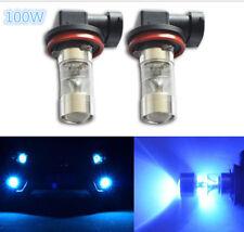 2x H11 H8 100W LED BLUE 10000K 2323 Projector Fog Driving Light Bulbs