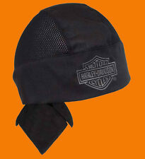Harley Davidson Mens Air Flow b&s Black W/Mesh Headwrap