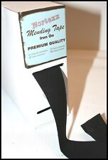 IRON ON FABRIC REPAIR MENDING TAPE 35MM FOR CLOTHING – BLACK – SOLD BY THE METRE