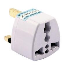 EU AU US to UK 3 Pins AC Power Plug White Travel Wall Adapter Plug Converter